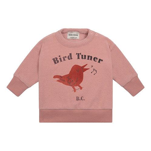 Bobo Choses - Pink Birdy Terry Cloth Sweatshirt