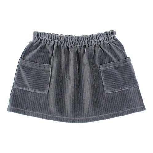 Buho - Blue Velvet Skirt