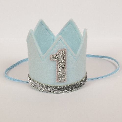 Birthday Crown - Blue & Silver - 1
