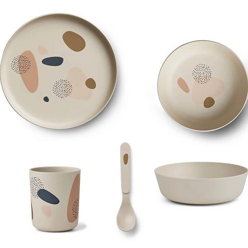 Bubbly Sandy Bamboo Tableware Set