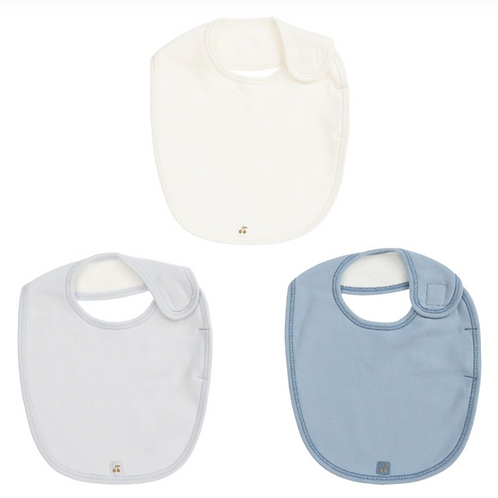 Bonpoint - Boys Cotton Bibs (3 Pack)