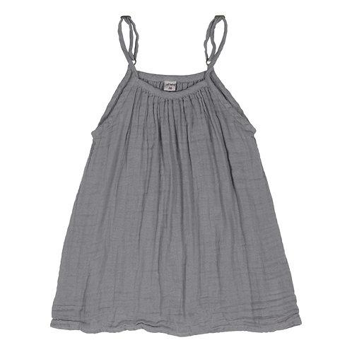 Stone Grey Organic Cotton Gown