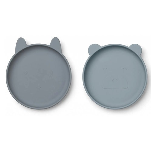 The Blue Friends Silicone Plate Set