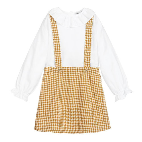 Babidu - Yellow Dungaree Skirt Set