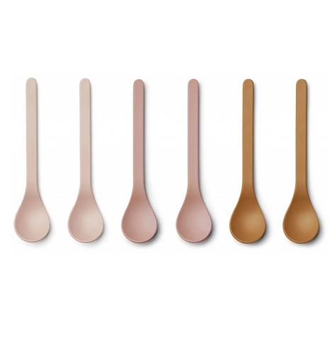 Rosey Mix Bamboo Spoon Set