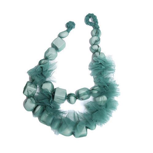Margaretha Knotted Necklace - Green