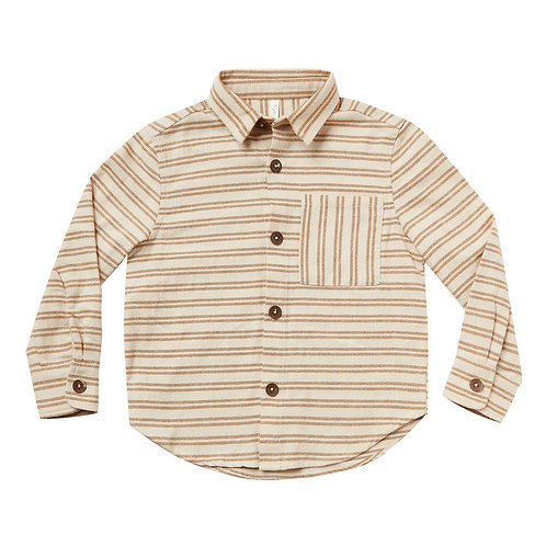 Rylee & Cru - Camel Striped Cotton Shirt