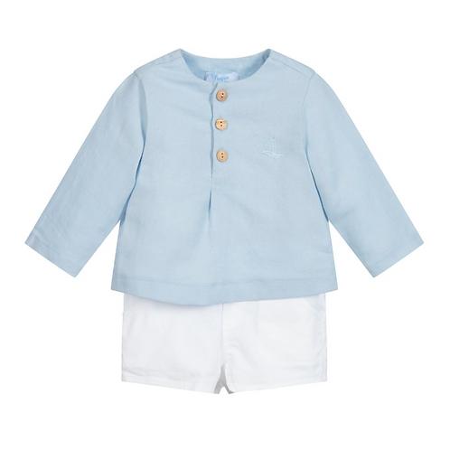 Baby Boys Sky & White Short set