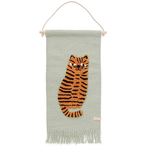 Handmade Wool Tiger Wall-Hanger