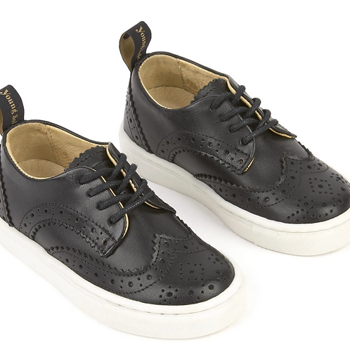 Young Soul - Black Leather Sporty Derby