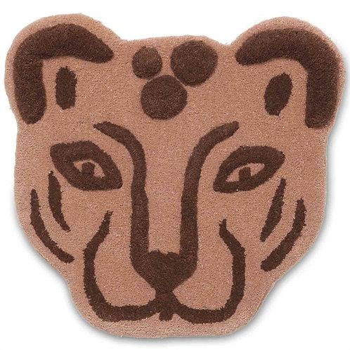 Handmade Leopard Head Rug