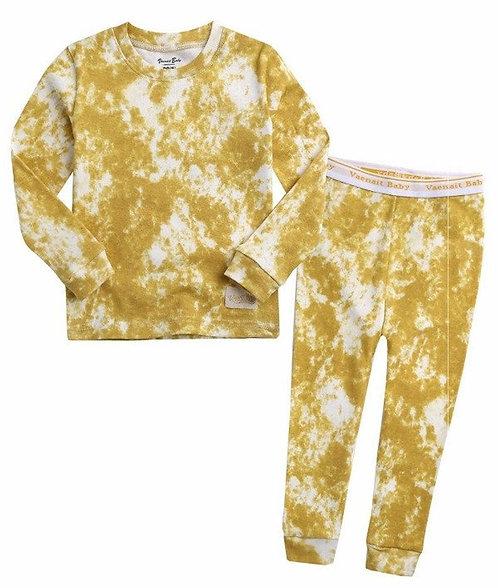 Handmade Tie Dye Pajama - Mustard
