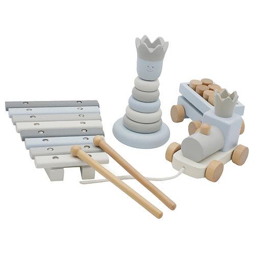 Blue Royal Wooden Education - 3Pcs