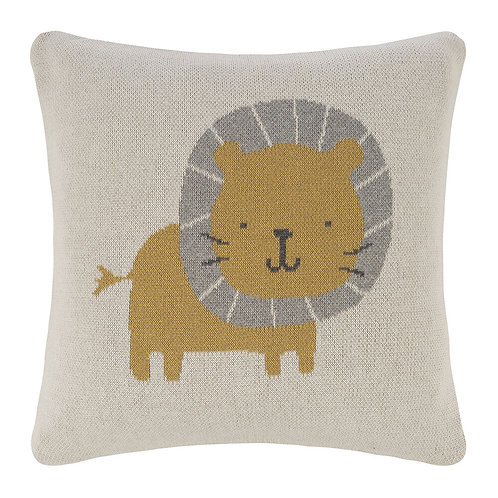 Knitted Lion Pillow