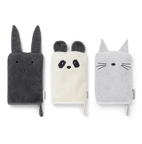 Panda Friends Wash Cloth Set