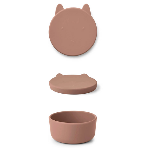 Rosey Bunny Silicone Snack Box - Large