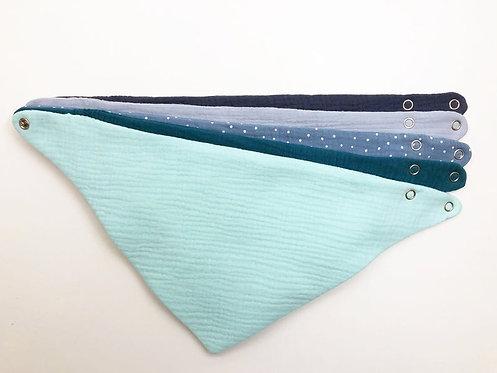 The Aqua Line - Organic Cotton Bandana Bib