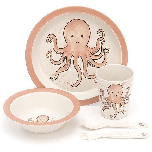 Octopus Bamboo Dinner Set