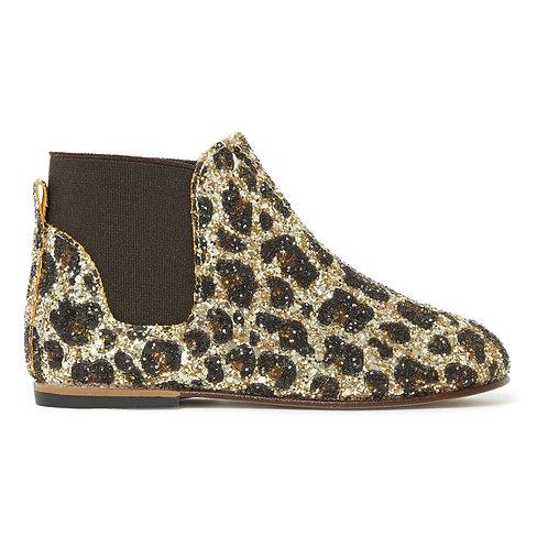 Glitter Leopard Chelsea Boots