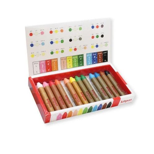 Kitpas - Medium Stick Crayons 12 Colours