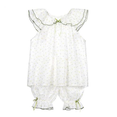 Green Garden Cotton Pajama Set