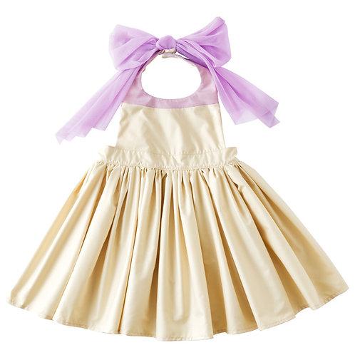 Apron Bib Dress - Cream