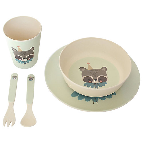 Raccoon Bamboo Meal Set