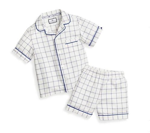 Navy Plaid Pajama Set