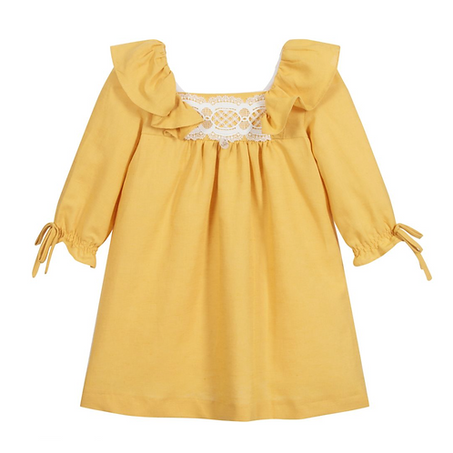 Mustard Yellow Linen Dress