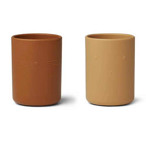 Mellow Mustard Silicone Cup Set