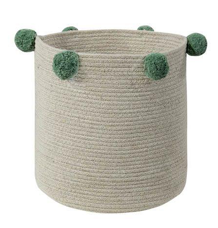 Bubbly Baby Basket - Natural/Green