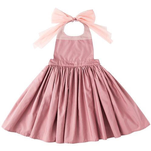 Apron Bib Dress - Rose