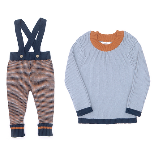 Alex Suspender Pants & Billie Ribbed Sweater