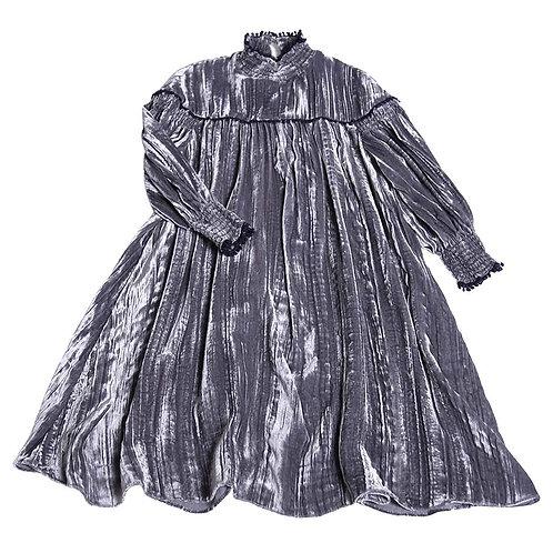 Antoinette Smocked Metallic Dress