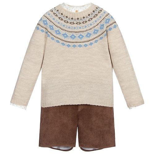 Autumn Brown Shorts Set