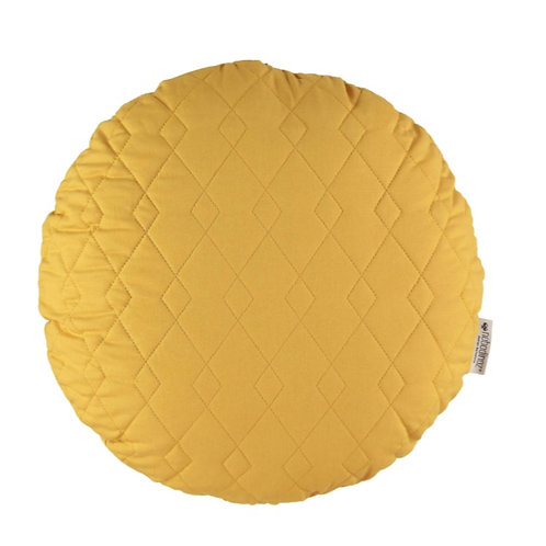 Round Shaped Cushion - Yellow