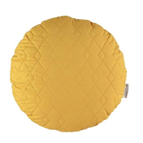 Round Shaped Cushion - Yellow