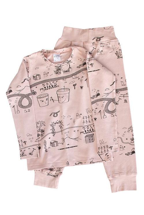 Pink Farm Pajama Set