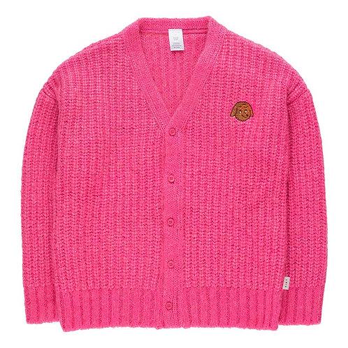 Bubble Gum Chunky Knit Cardi