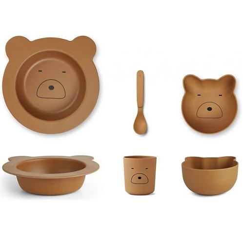 Mr Bear Bamboo Tableware Set