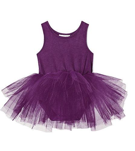 Suede Daphne Purple Tutu Dress