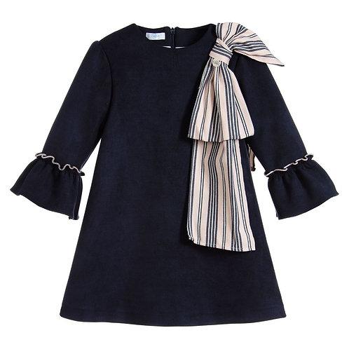Foque - Navy Bow Dress