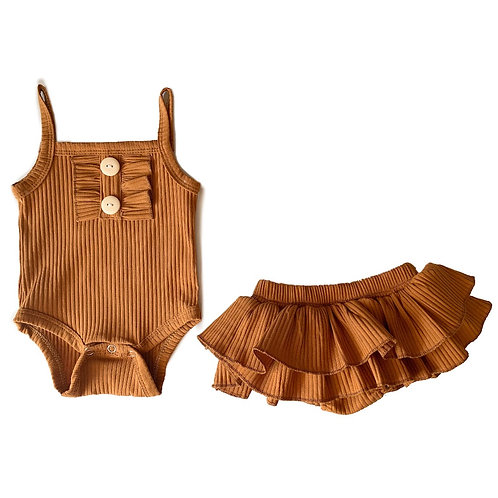 Honey Mayflower Ruffle Bloomers & Bodysuit