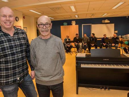 Blueskoret øver til ny Kimen-konsert