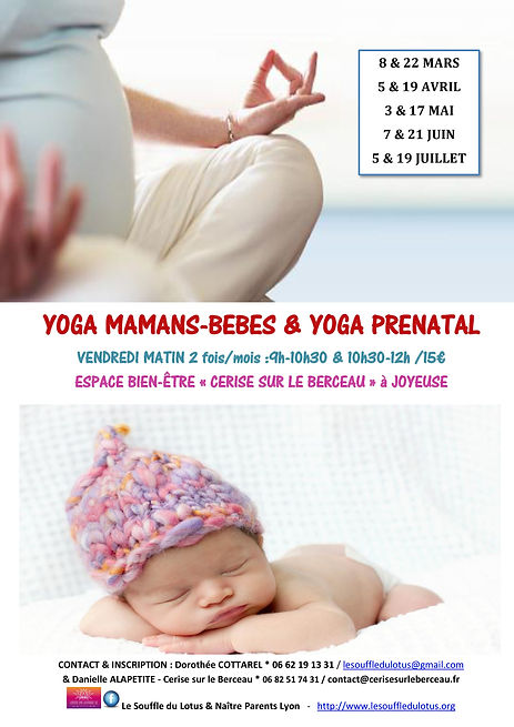 affiche yoga mamans bb prenatal printemp