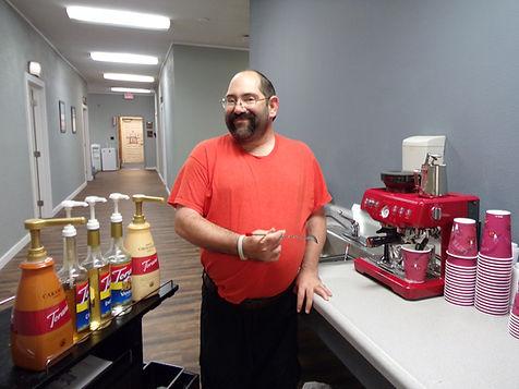 Danny making coffee.JPG