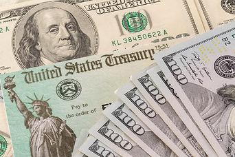 Stack of 100 dollar bills with illustrat