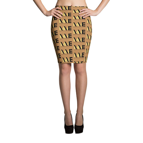 Signature MME Nude Pencil Skirt