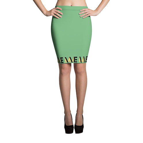 MME Green Pencil Skirt