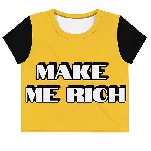 Make Me Rich Crop Tee